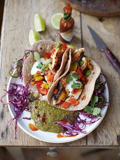"I made these Jamie Oliver ""Tasty Fish Tacos"" the other day and they were AMAZING."