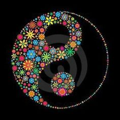 Encore un Yin Yang avec des fleurs :) Yin Yang Once again, a flower one :)