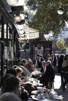 I've written many a postcard from this famous Paris sidewalk café - Café de Flore