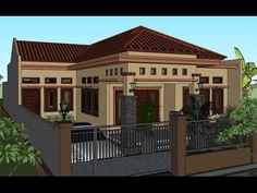 Jumaedi Sukabumi ( Info Jasa Desain online, W. House Main Gates Design, Duplex House Design, Door Design, Exterior Design, Minimalist House Design, Minimalist Home, Indoor Courtyard, Joko, Dream House Exterior