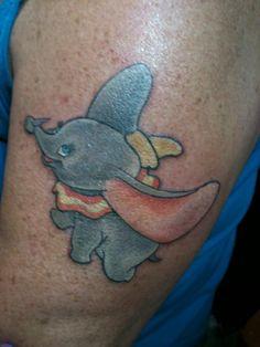 Disney Dumbo Tattoo by Lauren Quinn www.satori-ink.com