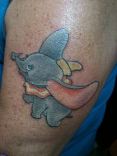 Disney Dumbo Tattoo by Lauren Quinn www.satori-ink.com