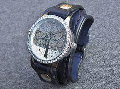 leon / Dámske hodinky kožený remienok námornícka modrá