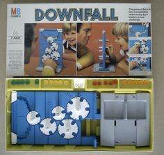 Downfall -  MB Games 1977 to 89's - Complete Good Condition Classic Game