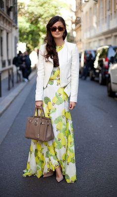 Maxi (dress)+Blazer