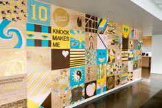 KNOCK / TREAT & Co. Employee Art Wall    www.knockinc.com  www.treatandcompany.com