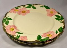 """Franciscan Dinnerware Desert Rose Plates Qty 2 10.5"""" Made in California 1950s - $20.00  #Franciscan"""