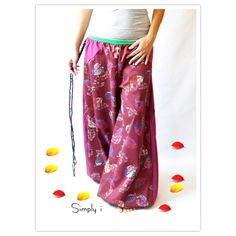 falling leaves!! Fashionable and funky comfortable harem pants