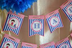 Pink & Blue Nautical Girl Party - Birthday Party Ideas for Kids and Adults 50th Party, Birthday Party Decorations, Party Themes, Party Ideas, Birthday Games, Girl Birthday, Birthday Parties, Nautical Party, Ariel The Little Mermaid