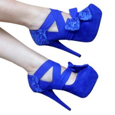 blue wrap shoes