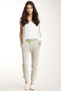Tapered Leg Drawstring Pant by Threads for Thought on @HauteLook