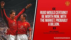 Keane: Ruud would be worth a billion today Ruud Van Nistelrooy, Roy Keane, Man Utd News, Soccer Quotes, Man United, Manchester United, The Unit, Baseball Cards, Sports