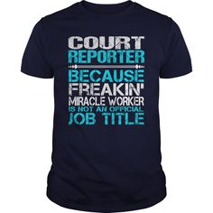 nice   Awesome Tee For Court Reporter -  Shirts this week