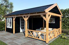 Luxe tuinhuis op maat Backyard Pavilion, Backyard Gazebo, Pergola Patio, Backyard Storage Sheds, Backyard Sheds, Small Buildings, Garden Buildings, Pool House Shed, Back Garden Design