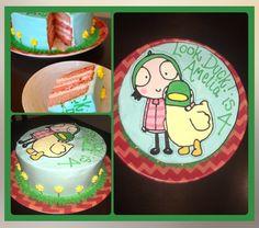 Sarah and Duck Birthday Cake.