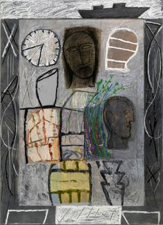 Mimmo Paladino, Untitled, 2010 #painting #contemporary #art #aprilfeature #ZB #mixedmedia