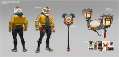Character Concept, Character Art, Concept Art, Character Design, Cyber Ninja, Semi Realism, Lion Dance, Character Costumes, Zbrush