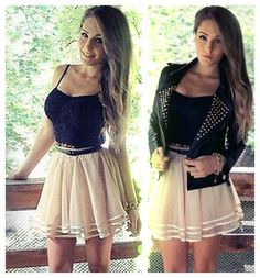 Sexy Sling Tops + Gauze Skirt Two-piece Set