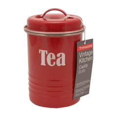 Vintage Red Tea Caddy by Typhoon
