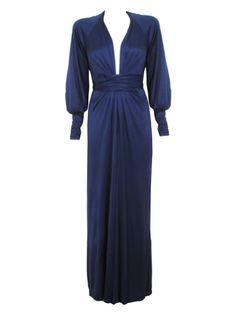 Long Sleeved Silk Jersey Gown - Dresses - Shop