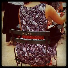 Dress spotted at Madison Square Park July 2012 http://www.patternhuntress.com/