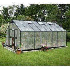 Juliana greenhouse gardener x x m, polycarbonate, glass thickness: 10 mm, silver / black)