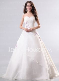 Wedding Dresses - $200.00 - A-Line/Princess Sweetheart Floor-Length Organza Wedding Dresses With Embroidery (002014287) http://jenjenhouse.com/A-line-Princess-Sweetheart-Floor-length-Organza-Wedding-Dresses-With-Embroidery-002014287-g14287