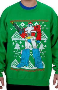 Optimus Prime Faux Ugly Sweater