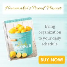 Homemaker's Friend Daily Planner BOGO starting Jun...