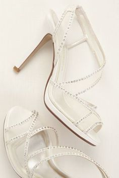 Sparkle and shine in these dazzling strappy sandals! Style Sunny at David's Bridal.