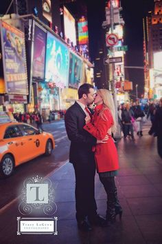 NYC engagement Engagement photography Times Square photography Nj photographer