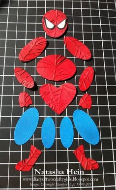 Punch Art - Spiderman...Now i need the spider web embossing folder.  Pinterest is starting to cost me $$...or is that save me $$....we are eating pretty good lately :) @Frida Blaine...I need the web folder