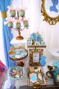 Make your fondest wishes come true with the ideas inside this Fairy Godmother Cinderella Birthday here at Kara's Party Ideas. Cinderella Baby Shower, Cinderella Sweet 16, Cinderella Theme, Cinderella Birthday, Cinderella Wedding, Cinderella Centerpiece, Cinderella Decorations, Cinderella Cupcakes, Cinderella Quinceanera Themes