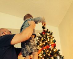Finishing touch... His first year placing the star.