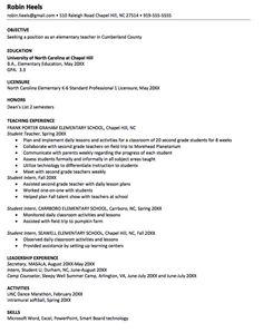 sample resume for elementary teacher httpexampleresumecvorgsample