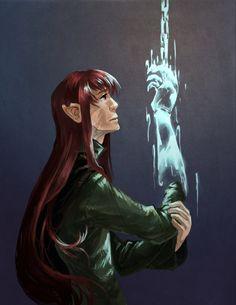 Maedhros experiences phantom pains (I love that someone drew this…)