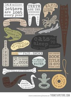 A collection of interesting facts…