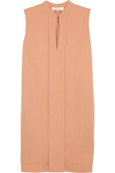 Pleated crepe dress by Chloé...sweet. ...need opaque stockings and um... shoes? what kind?