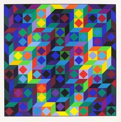 Victor Vasarely - Hommage à l'Hexagone, 1969.