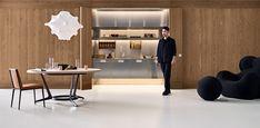 Arclinea keukens: Italiaans Design - Arclinea Concept Store Living Environment, Architect Design, Netherlands, Kitchens, Concept, Ceiling Lights, Lighting, Store, Home Decor