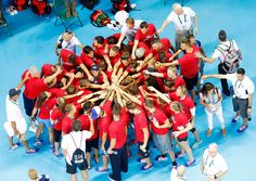 olympic rio 2016 sailing teams | ... team members as they huddle during a visit…