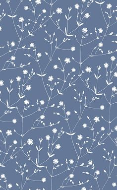 Illalla Blue wallpaper by Marimekko
