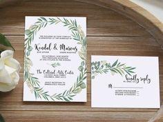 Convite de Casamento   Folhagem