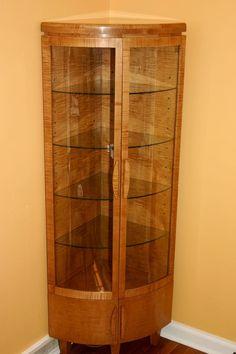 Custom Made Corner Curio Cabinet