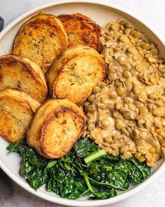 Vegan Dinner Recipes, Veggie Recipes, Whole Food Recipes, Vegetarian Recipes, Cooking Recipes, Healthy Recipes, Vegan Lentil Recipes, Garlicky Kale, Vegan Dishes