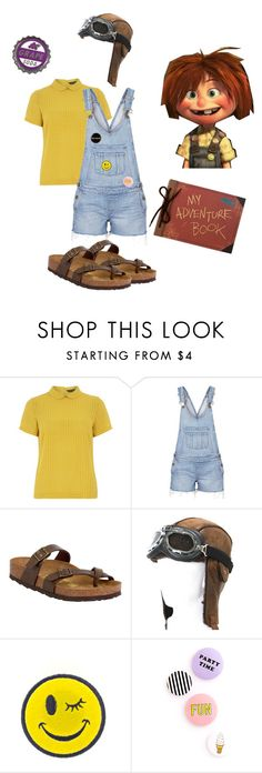 """""""Ellie"""" by missfantabuluousmaddie ❤ liked on Polyvore featuring Dorothy Perkins, Paige Denim, Birkenstock, Ana Accessories and Disney"""