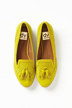 Adorable mustard loafers by Dolce Vita
