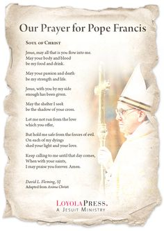Our Prayer for Pope Francis, Loyola Press