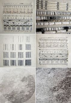 Monochrome embroidery stitch samples; couching; experimental stitching; textile…