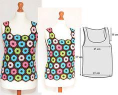 Szydełkowa bluzka, kolorowe kwiaty, vintage, styl boho, styl hippi, kolorowa bluzka, szydełkowa bluzka (2)